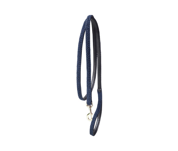 Plaited Nylon Dog Leash Navy