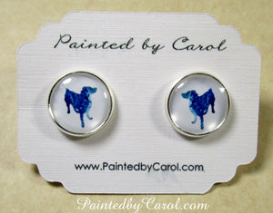 Australian Shepherd Silhouette Earrings