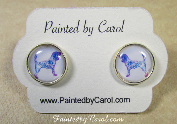 Beagle Silhouette Earrings