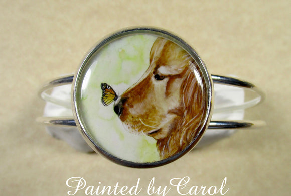 Golden Retriever Cuff Bracelet