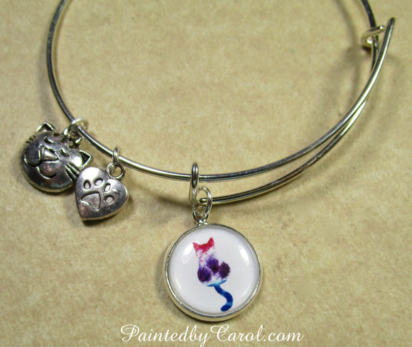 Calico Cat Bangle Bracelet
