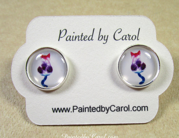 Calico Cat Earrings