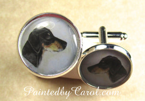 Doberman Pinscher Cufflinks