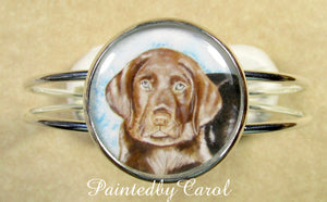 Chocolate Labrador Retriever Cuff Bracelet