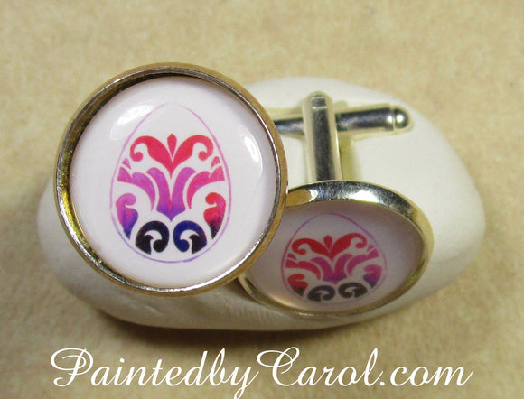 Flourish Easter Egg Cufflinks