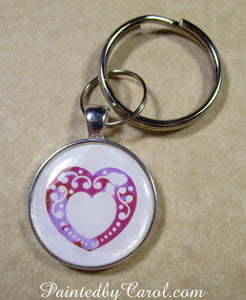 Lace Heart Keychain