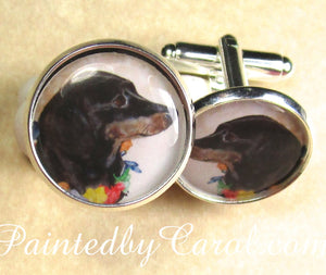 Black and Tan Dachshund Cufflinks