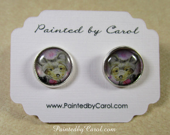 Yorkie Earrings