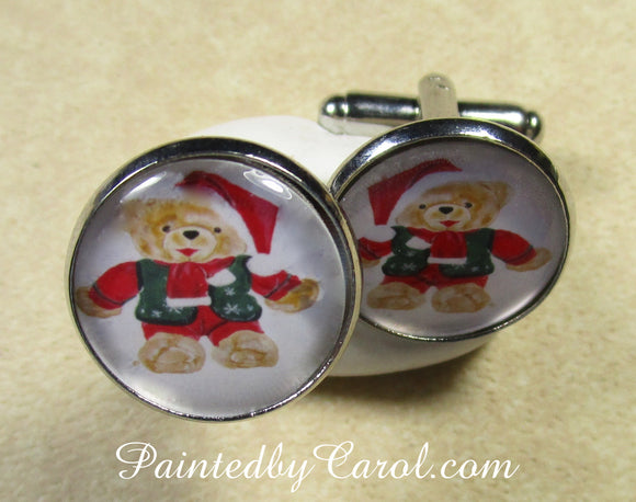 Mr Christmas Bear Cufflinks