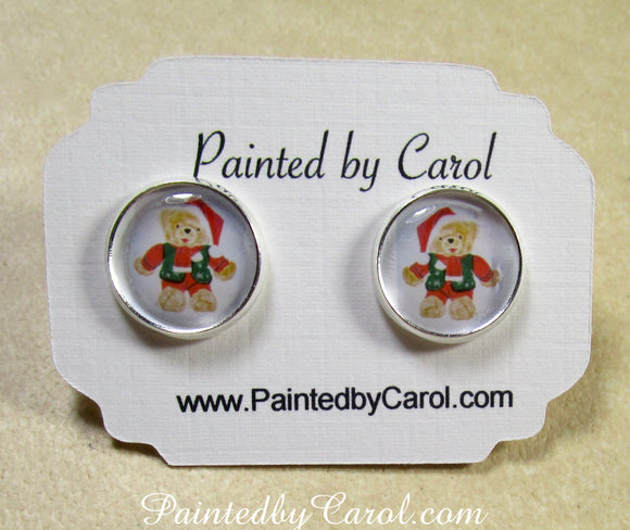 Mr Christmas Bear Earrings
