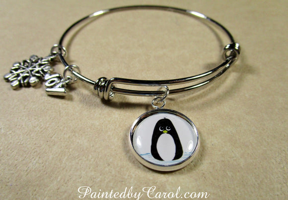 Penguin Bangle Bracelet