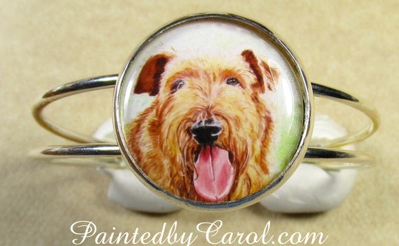 Irish Terrier Cuff Bracelet