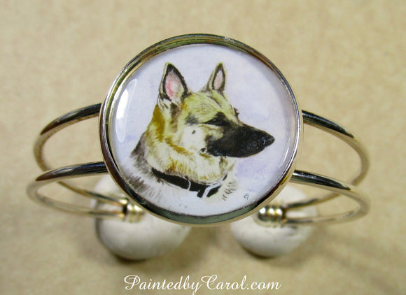 German Shepherd Cuff Bracelet