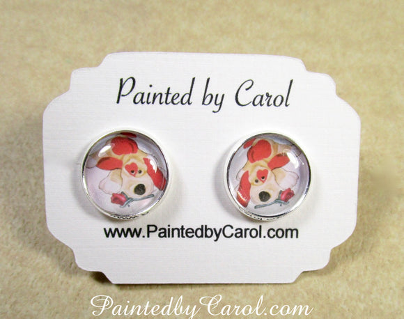 Valentine Puppy Earrings