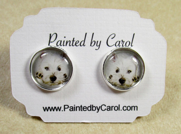 Westie Earrings