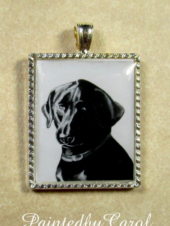 Black Labrador Retriever Pendant