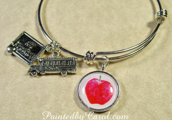 Apple Bangle Bracelet