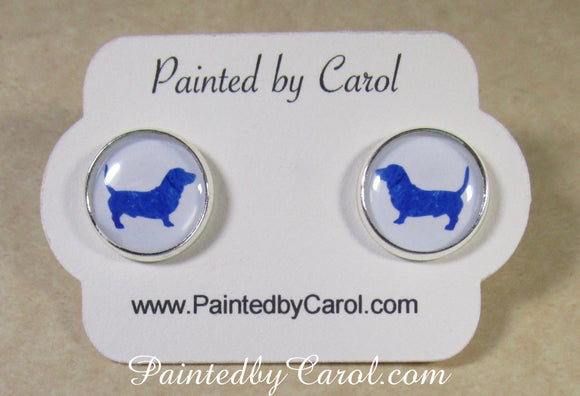 Basset Hound Silhouette Earrings