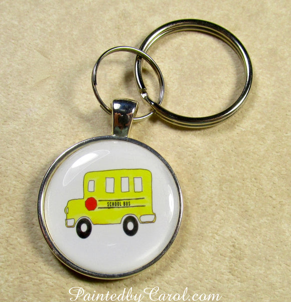School Bus Keychain