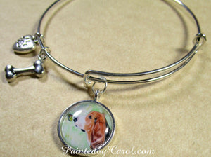 Basset Hound Bangle Bracelet