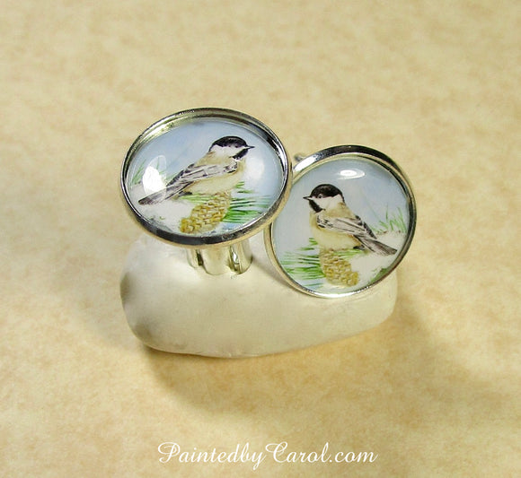 Chickadee Cufflinks