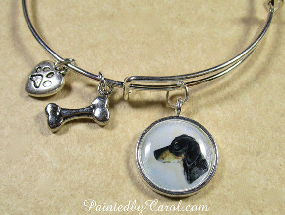 Doberman Pinscher Bangle Bracelet