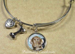 Chocolate Labrador Retriever Bangle Bracelet