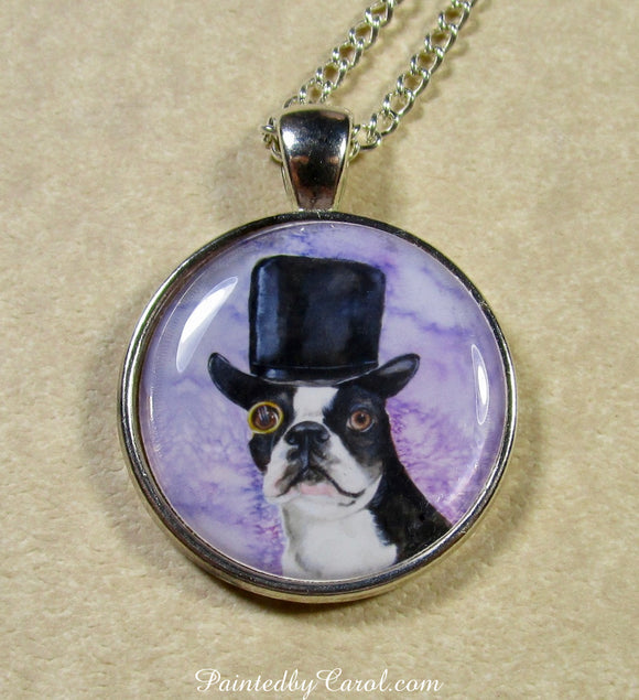 Dapper Boston Terrier Pendant