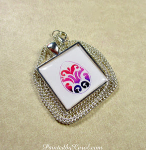 Flourish Easter Egg Pendant