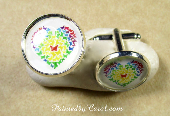 Butterfly Heart Cufflinks