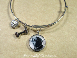 Black Labrador Retriever Bangle Bracelet