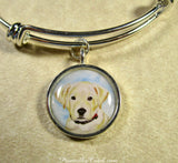 Yellow Labrador Retriever Bangle Bracelet