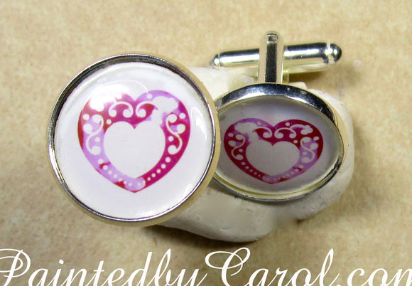 Lace Heart Cufflinks