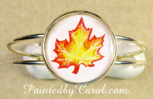 Autumn Leaf Cuff Bracelet
