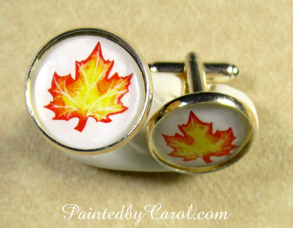 Autumn Leaf Cufflinks