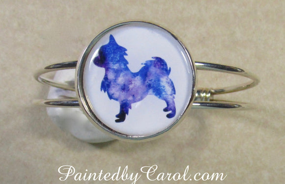 Long Haired Chihuahua Cuff Bracelet
