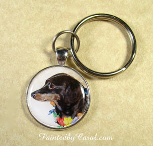 Black and Tan Dachshund Keychain