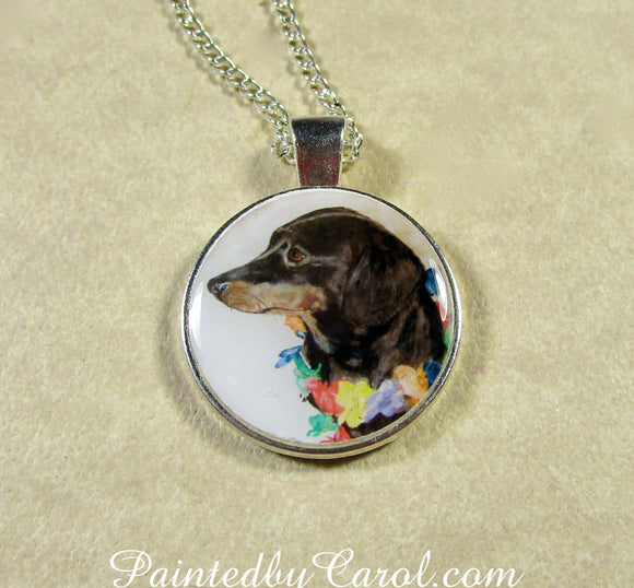 Black and Tan Dachshund Pendant