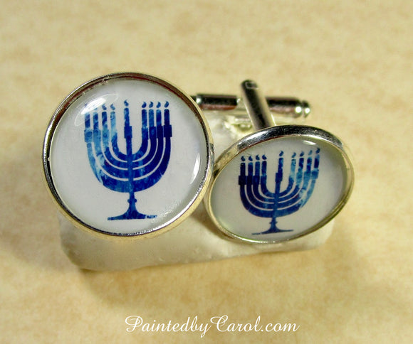 Menorah Cufflinks