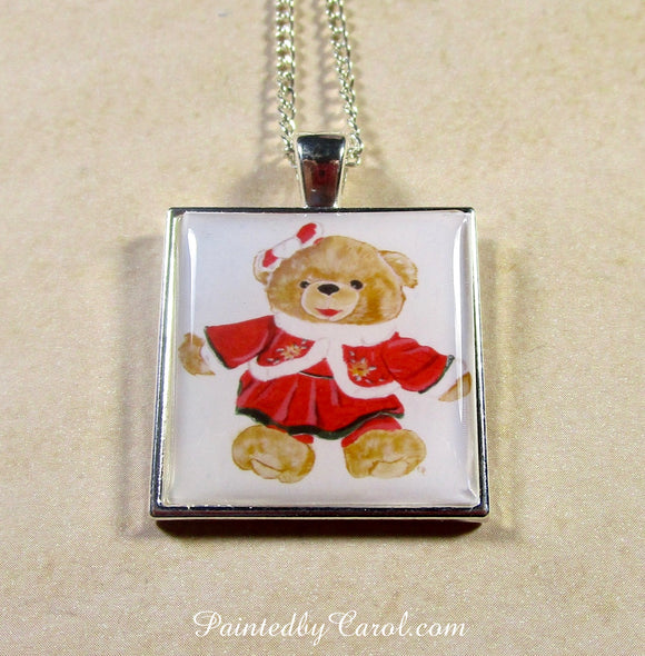 Mrs Christmas Bear Pendant