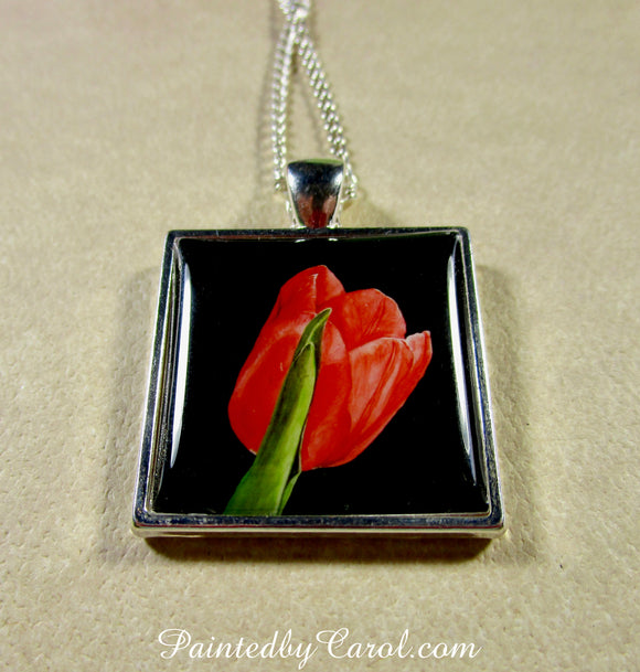 Red Tulip Pendant