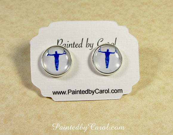 Still Rings Mens Gymnastics Earrings