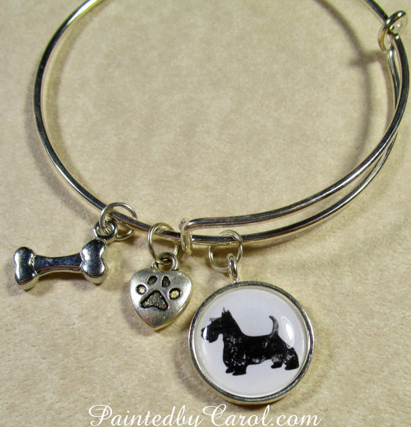 Scottish Terrier Bangle Bracelet