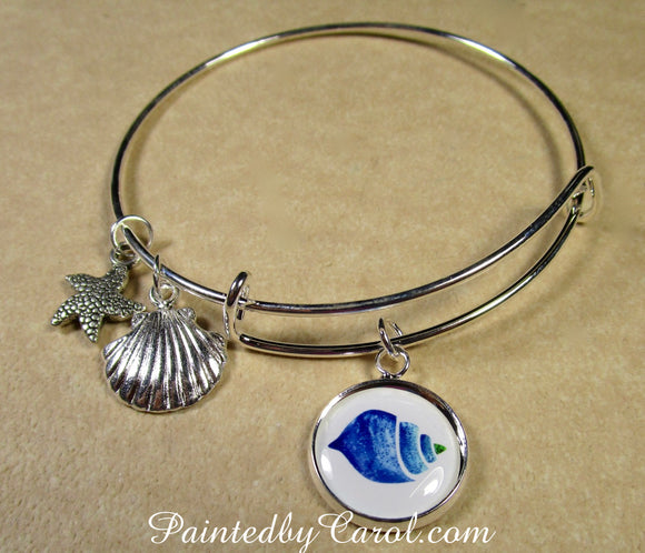 Sea Shell Bangle Bracelet