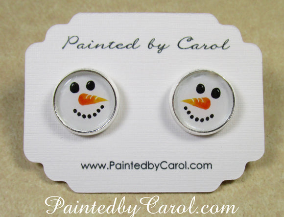 Snowman Earrings