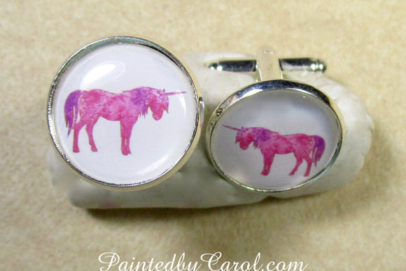 Pink Unicorn Cufflinks