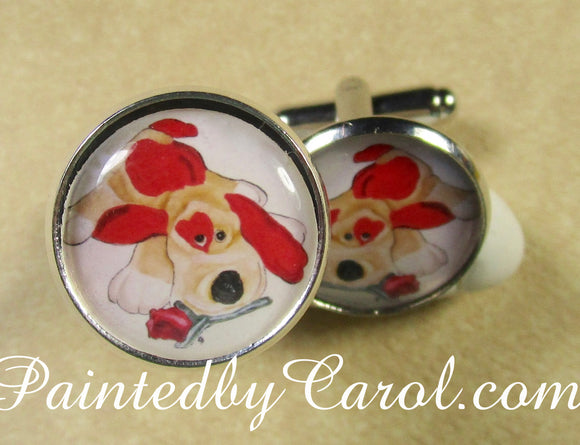 Valentine Puppy Cufflinks
