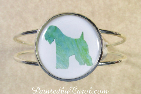 Soft Coated Wheaten Terrier Cuff Bracelet