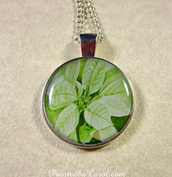 White Poinsettia Pendant