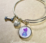 Yorkshire Terrier Bangle Bracelet